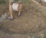 מילאנו את התעלה בחצץ