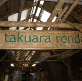 שלט הכניסה לבית המלאכה - Takuara Renda
