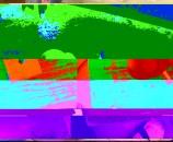 """Greenwash"" (2012), צבעי מים על קרטון חלב"