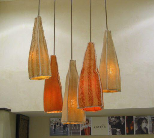 אהילים ומנורות מחומרים טבעיים ו/או ממוחזרים