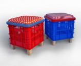 שרפרף דקורטיבי מארגז רב שימושי מרובע