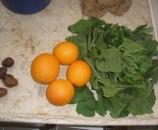 מה תמצאו במתכון? ארבע תפוזים, ארבעה תמרים, עשרה עלי כובע הנזיר, ארבעים של חובזה, ושניים של חרדל.
