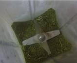טוחנים את העלים במטחנת תבלינים או בבלנדר חזק
