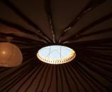 Yurtime - חלון הגג, מבט מבפנים