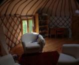 Yurtime - יורט מעץ טבעי, מבט מבפנים