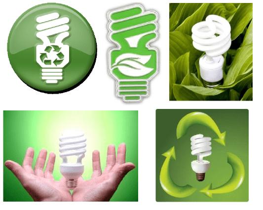 אימאג' ירוק לנורות פלורסנט קומפקטיות