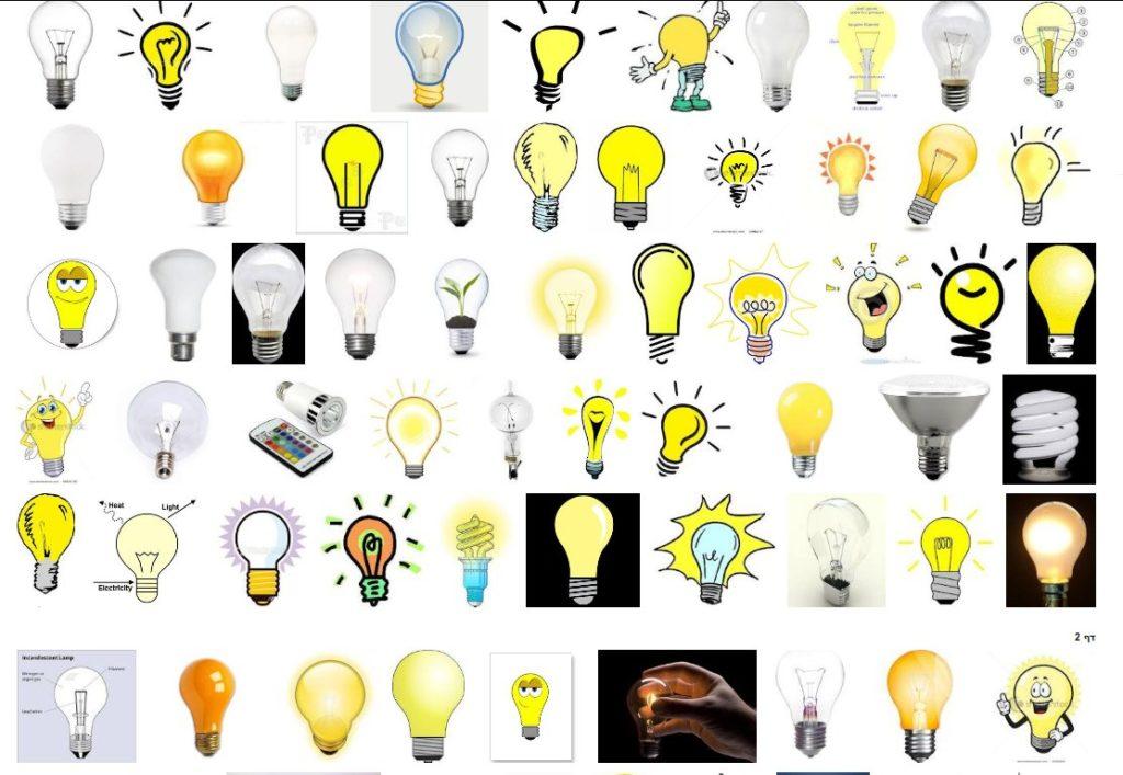 חיפוש הביטוי ''light bulb'' בגוגל