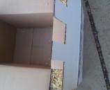 """חיתוך ה""""כנף"""" של הקופסא החיצונית לגודל המתאים + לשוניות"""
