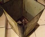 עציץ פתיל בפח זיתים - פתיחת הפח