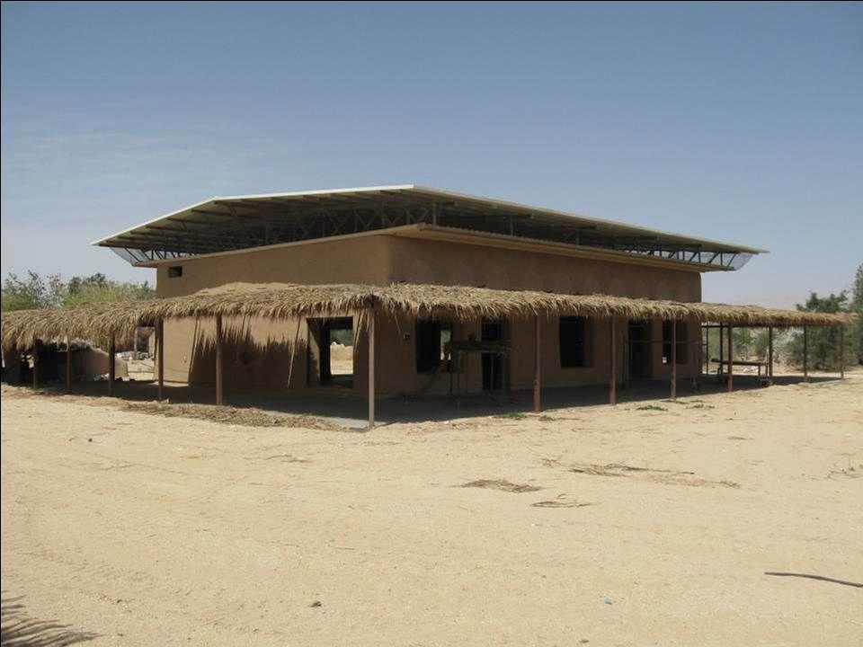 שלבי בניה שונים במבנה כנסים וסמינרים באקו כיף - קיבוץ לוטן