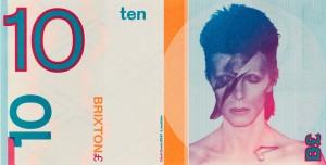 שטר בן 10 בריקסטון פאונד עם פרצופו של דיויד בואי שנולד בעיירה