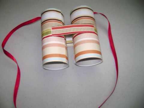 הקלאסי - משקפת מגלילי נייר
