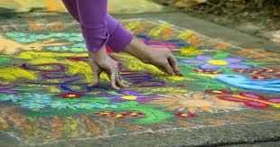 איזה כיף לצייר על המדרכה