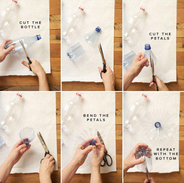 איך מכינים פונפונים מבקבוקי פלסטיק