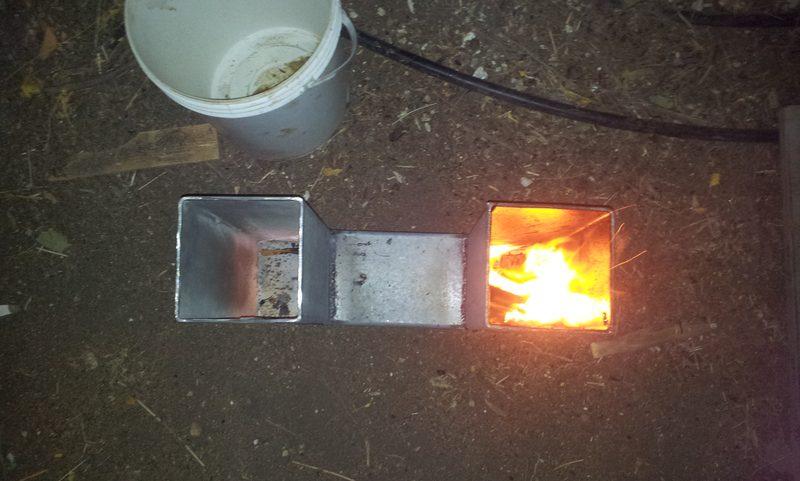 צינור ההזנה ומעלה החום באותו גובה