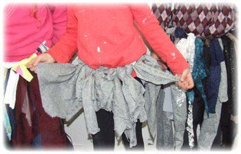 חצאית משאריות טריקו