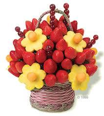 סלסלת פרחים מפירות