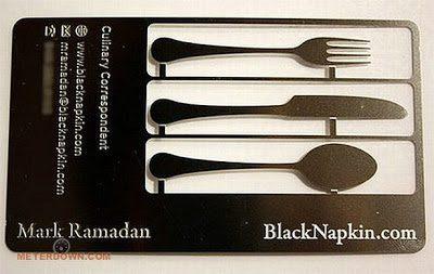 בידיים- כרטיס ביקור כלי אוכל