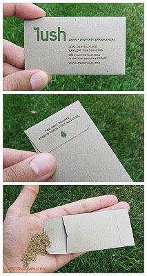 בידיים- כרטיס ביקור עם זרעים