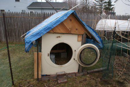 מכונת כביסה ישנה- מלונה לכלב- בידיים