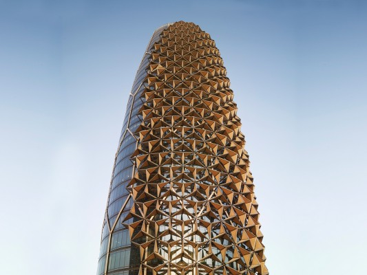 מגדלי באחר באבו דאבי – Al Bahar Towers in Abu Dhabi, designed by Aedas