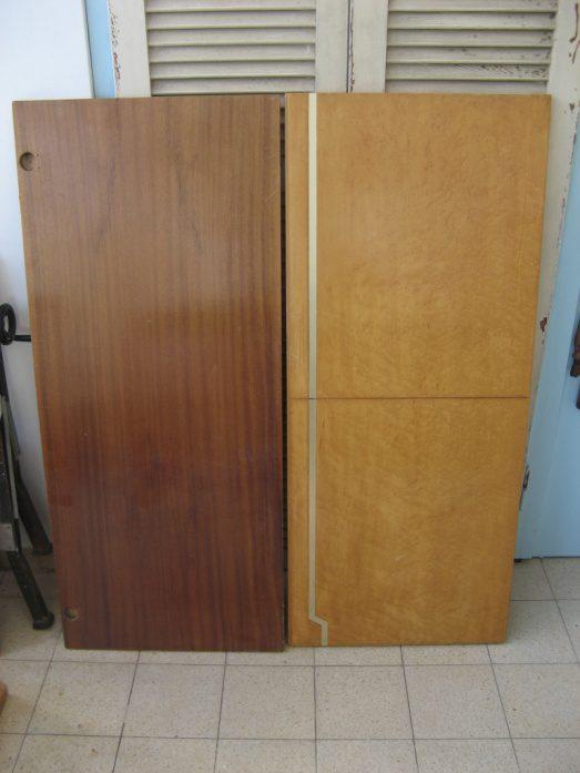 אז נפלו עיני על כמה דלתות מארון ישן, שגאלתי פעם ממכולה של שיפוצניק