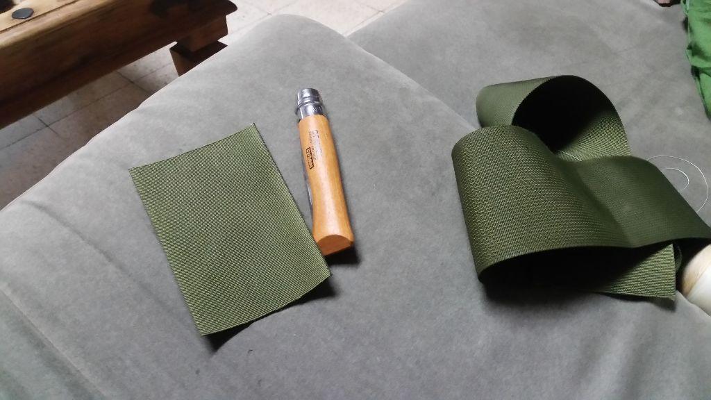 האופינל והרצועה שממנה אכין את הנרתיק