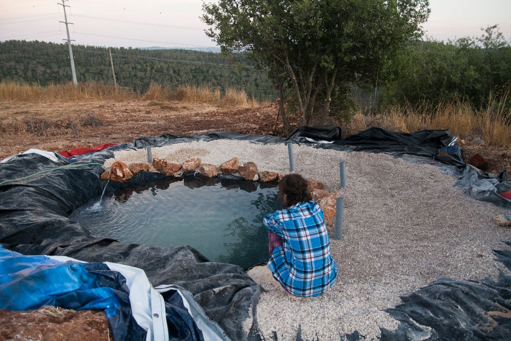 הבריכה באמצע מילוי המים