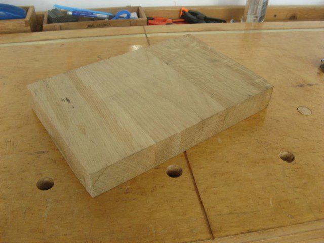 שארית פלטת שולחן מעץ אלון