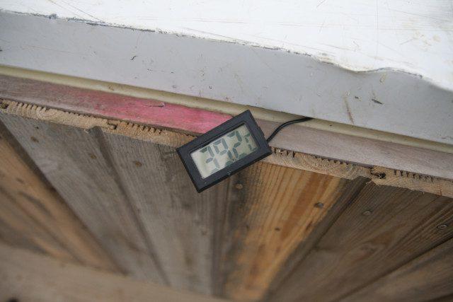 מד טמפרטורה על 39 מעלות