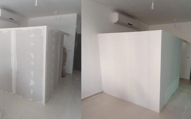 בניית קיר גבס - המרכז לעבודות גבס